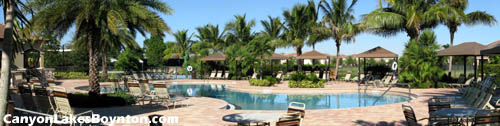 Relax by the Canyon Lakes pool, and feel like you are vacationing at a Florida resort - at home in your own neighborhood!