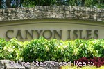 Canyon Isles community sign