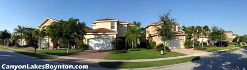 The upscale suburban South Florida lifestyle can be yours at the gated Canyon Lakes community in Boynton Beach, FL.